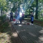 Sprzątanie parku