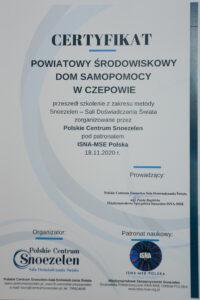 Certyfikat Snoezelen
