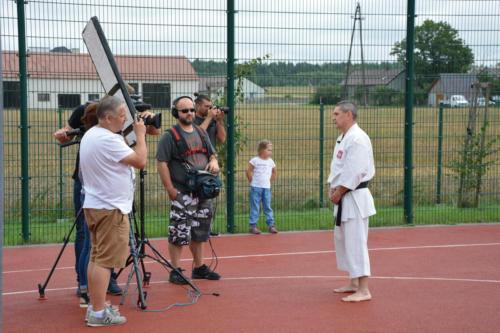 Pokaz karate dla TVP3